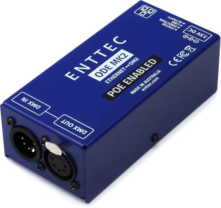Spiksplinternieuw ENTTEC ODE POE Mk2 1-Port Open DMX Ethernet Gateway w/ Power Over PW-72