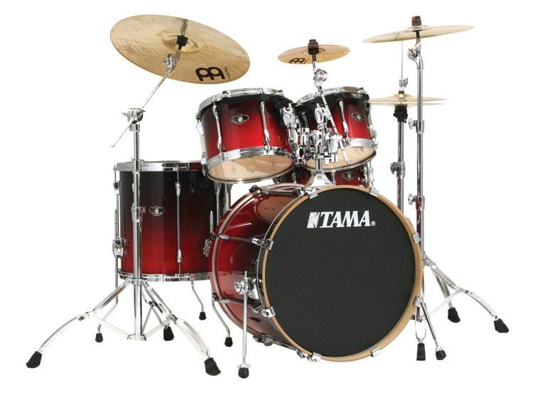Tama Superstar Custom 5-piece Kit - Scarlet Custom Fade image 1 f0f087869