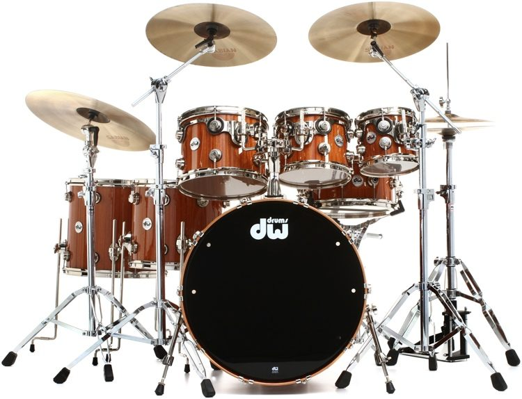 bc197ee2aa63 DW Collector s Series Cherry Mahogany Shell Pack - 7-piece - Natural  Lacquer Finish image