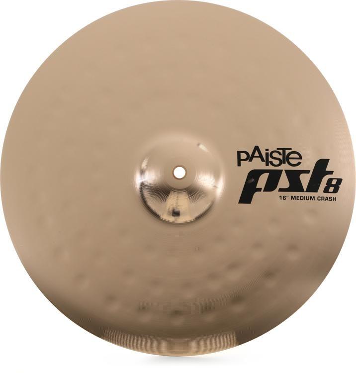"Paiste PST8 Reflector 16/"" Rock Crash Cymbal"