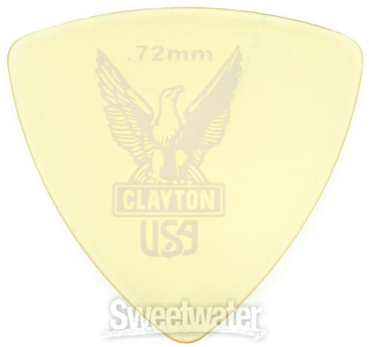 6-Pack Clayton Ultem Gold Rounded Triangle Picks  .72mm