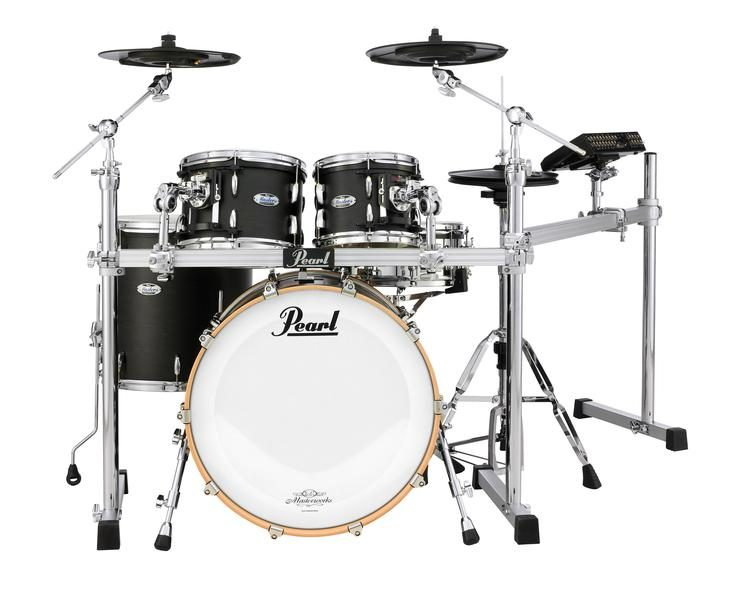 Mimic with Masters MCT 5-piece Electronic Drum Set - Matte Black Mist -  10/12/16/22