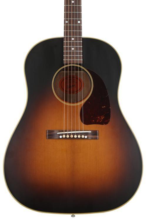 Gibson Acoustic 1942 Banner J 45 Acoustic Guitar Vintage Sunburst Sweetwater