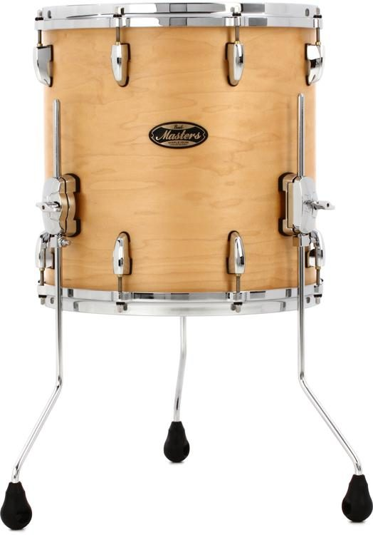 Pearl Masters Maple Gum Floor Tom 14 X 14 Natural Maple