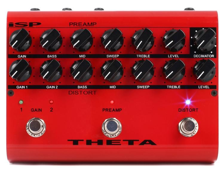 Theta Preamp Distortion Pedal with Decimator Noise Reduction