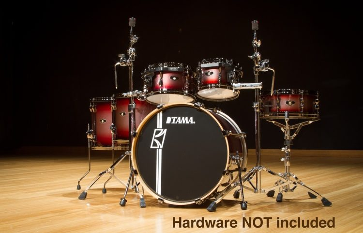 e1a305a1d6f7 Tama Superstar Custom Hyper-Drive 6-pc Shell-Pack - Red Titanium Burst