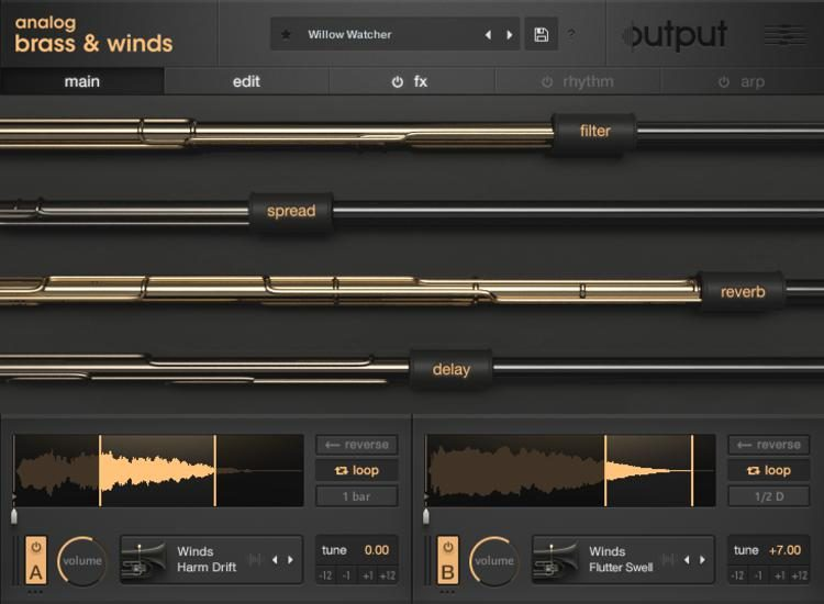 Analog Brass and Winds Virtual Instrument