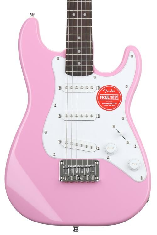 0492a5bcbe Squier Mini Strat - Pink w/ Rosewood Fingerboard | Sweetwater