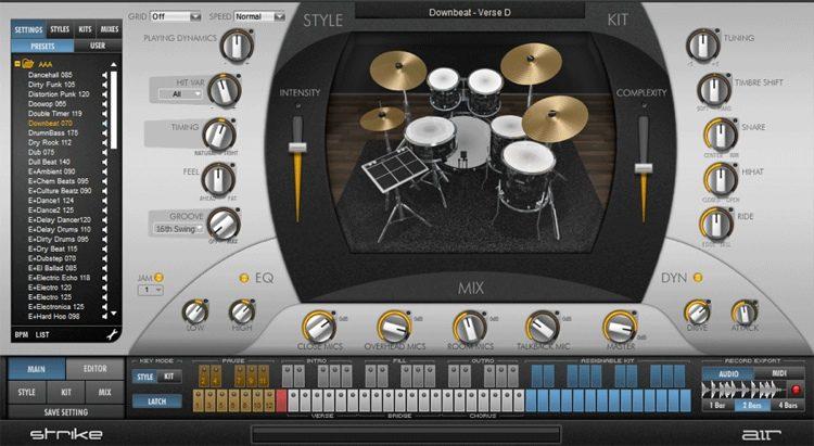 Strike 2 Virtual Drummer Instrument