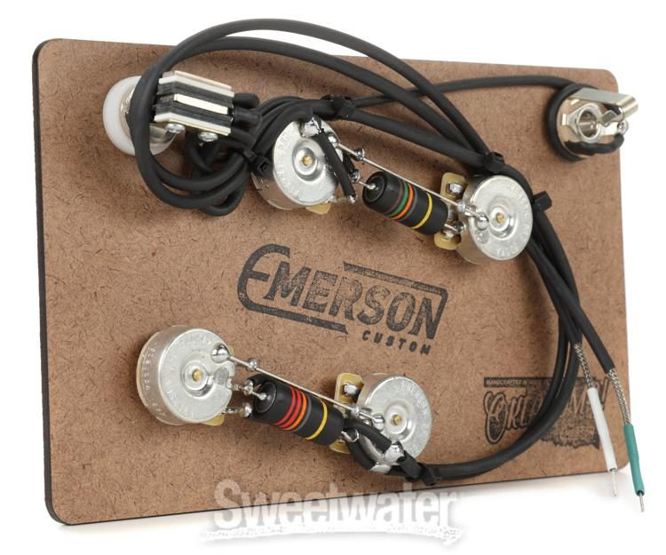 custom wiring harness kits emerson custom prewired kit for gibson es 335 sweetwater  prewired kit for gibson es 335
