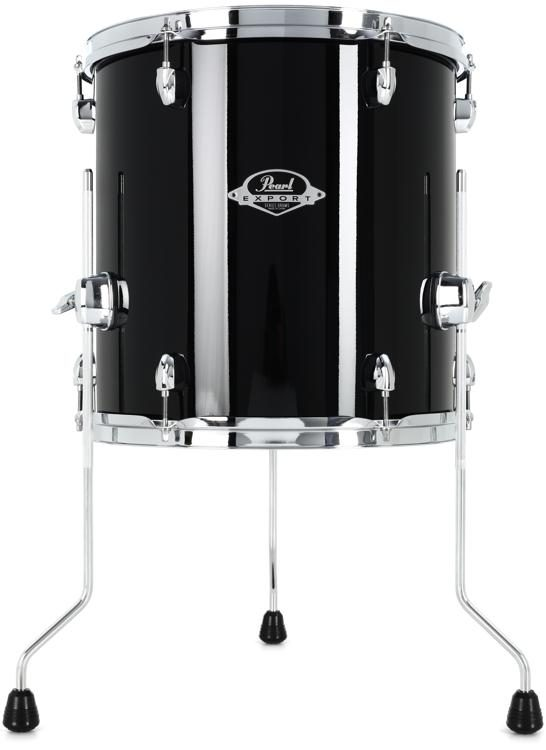 Pearl Export Exl Floor Tom 14 X 14 Black Smoke Sweetwater