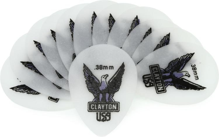 Clayton Acetal Guitar Picks Select from gauges  Matte surface prevents slippage