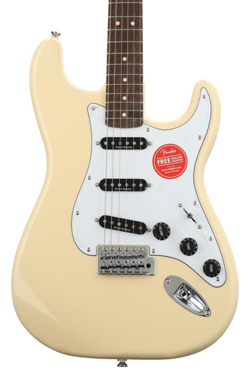 squier vintage modified 70s stratocaster vintage white w indian
