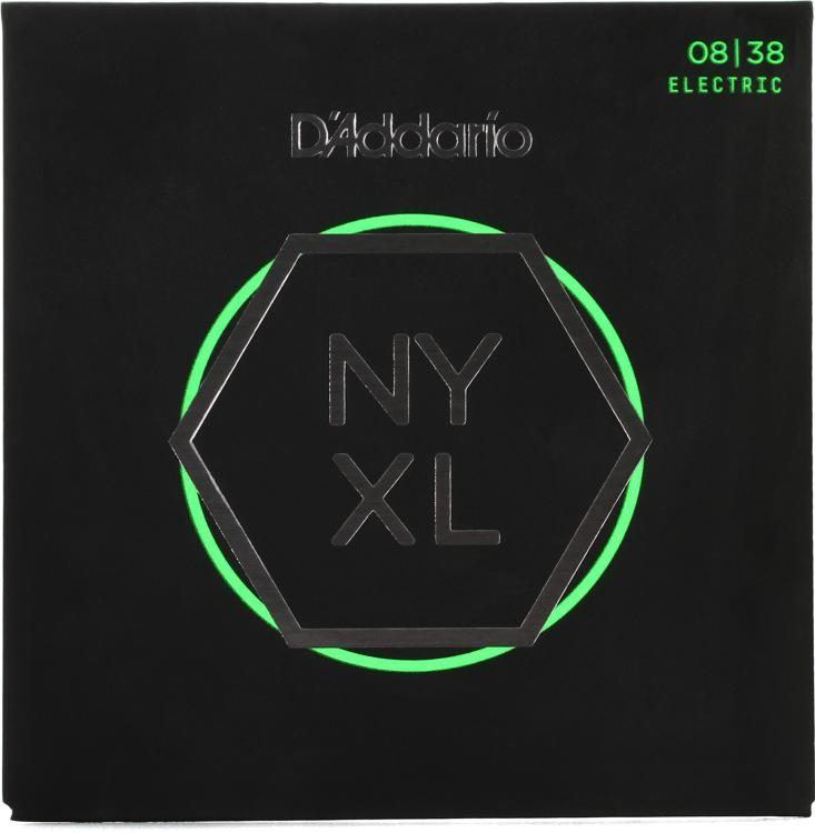 D Addario Nyxl0838 Nickel Wound Electric Strings 008 038 Extra Super Light