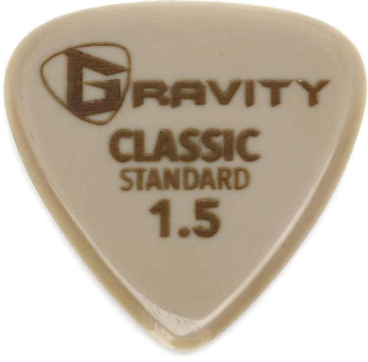 Gravity Picks Gold Classic Standard Size 15mm Sweetwater