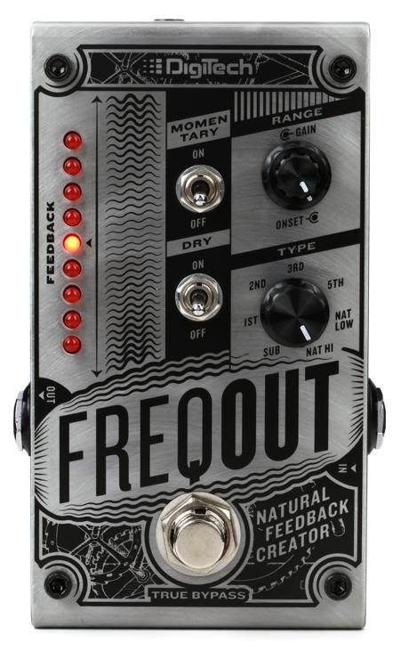 DigiTech FreqOut Natural Feedback Creator Guitar Effects Pedal w// Flat Patch 2