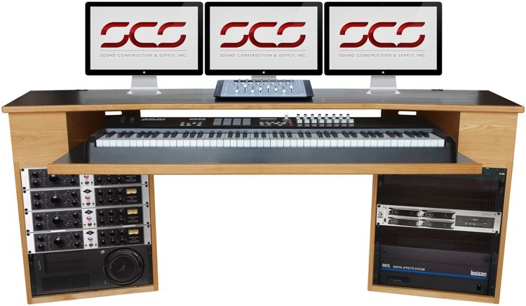 Terrific Scs Composer Keyboard Desk Oak Home Interior And Landscaping Eliaenasavecom