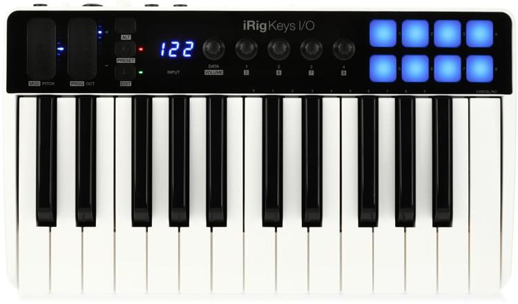 iRig Keys I/O 25 Keyboard Controller with Audio Interface for iOS, Mac/PC