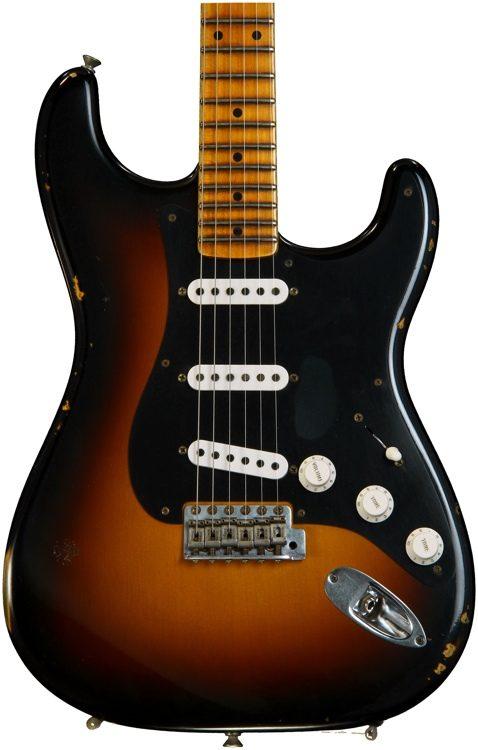 Ancho Poblano Stratocaster - Two tone Sunburst w/ Maple Fingerboard