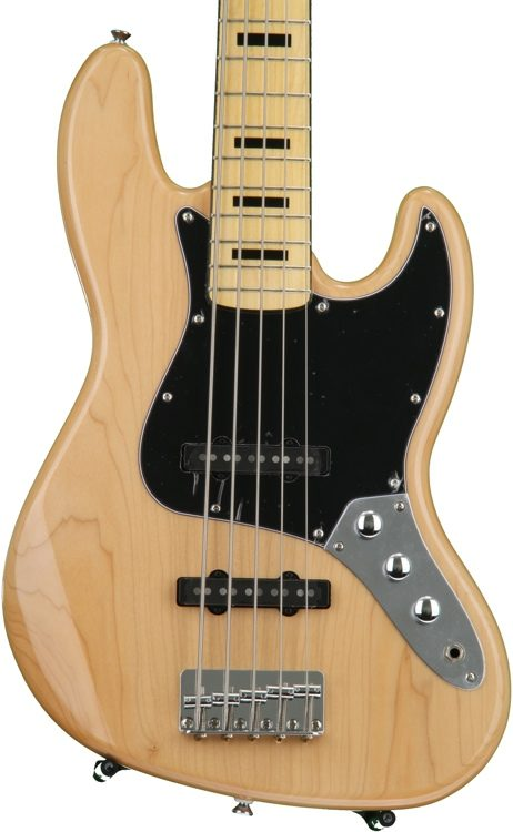 Squier Vintage Modified Jazz Bass V Natural Sweetwater
