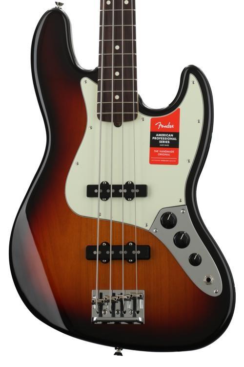 American Professional Jazz Bass - 3-Color Sunburst w/ Rosewood Fingerboard