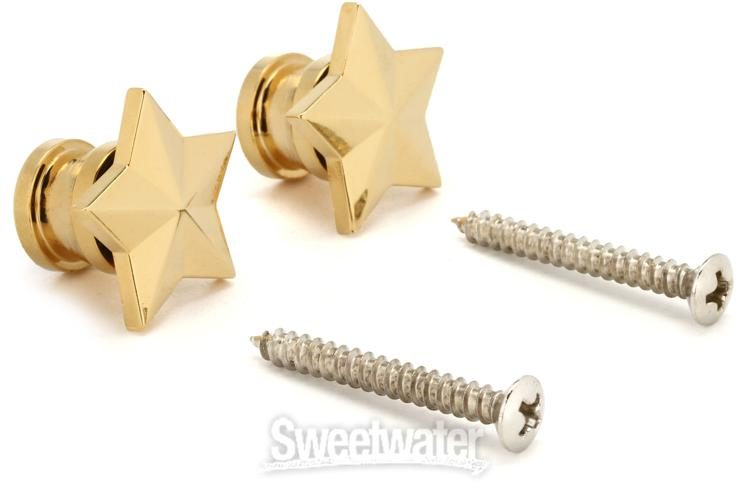 GP630G Grover Gold Star Style Artist Strap Buttons