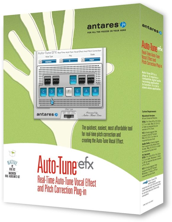 antares auto-tune efx vocal effect & pitch correction plug-in