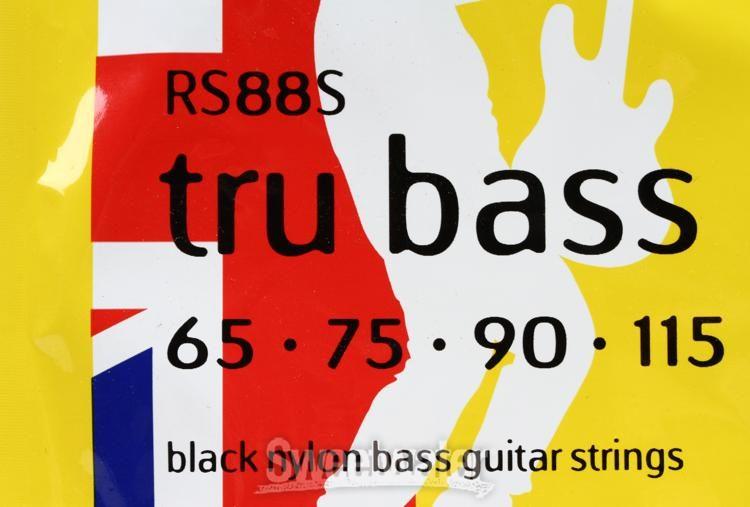 Black Nylon Flat Rotosound 4er 65-115 Tru Bass 88 Bass Saiten RS88LD