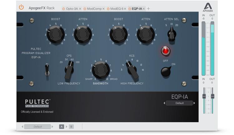 FX Rack Pultec EQP-1A Program EQ - Plug-in