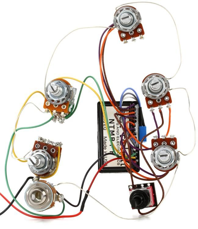 hr wiring harness bartolini hr 5 4ap 918 prewired harness 5 knob  3 band eq with  bartolini hr 5 4ap 918 prewired harness