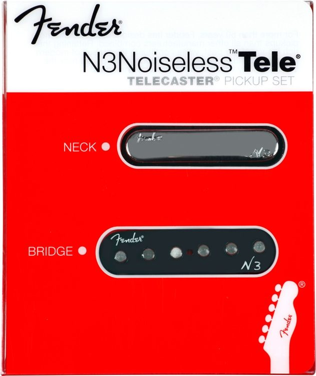 fender n3 noiseless pickup tele 2 piece set sweetwater rh sweetwater com
