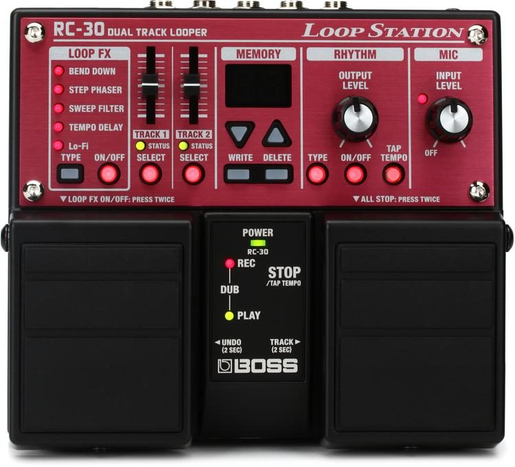 boss rc 30 phrase looper pedal sweetwater rh sweetwater com Boss RC- 20XL Loop Station Infinity PRV250 Manual
