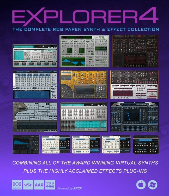 eXplorer4 Virtual Instrument and Effects Software Bundle