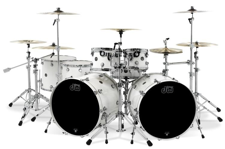DW Performance Series 7 Piece Double Bass Shell Pack With Snare Drum