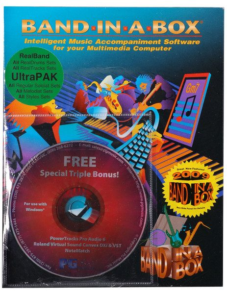 Band-in-a-Box 2009 for Windows UltraPAK