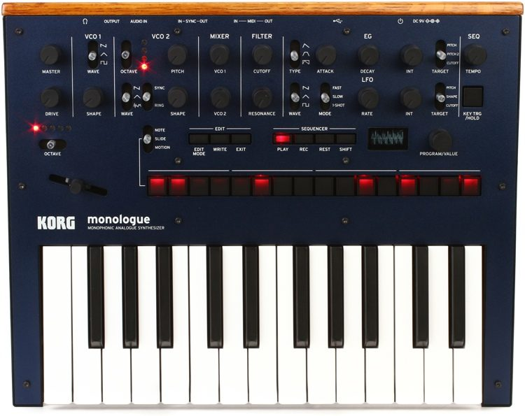 Korg monologue Analog Synthesizer - Black | Sweeer on