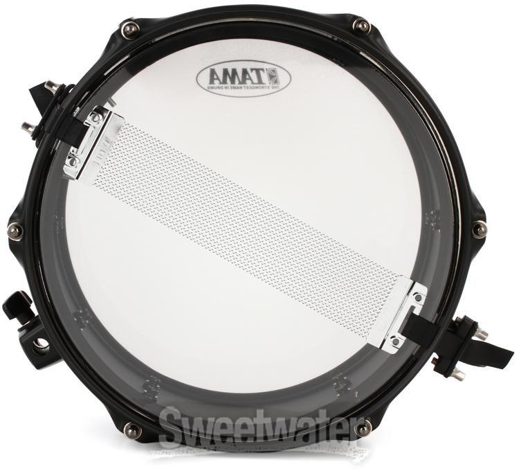Tama Metalworks 6.5x14 Steel snare drum w// Matte Black Shell Hardware