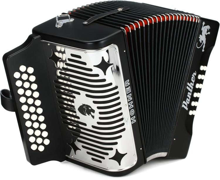 Panther Diatonic Accordion - keys of F, Bb, and Eb