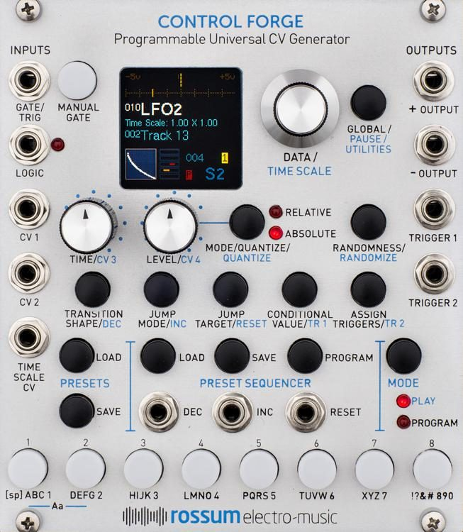 Control Forge Eurorack Programmable CV Generator Module