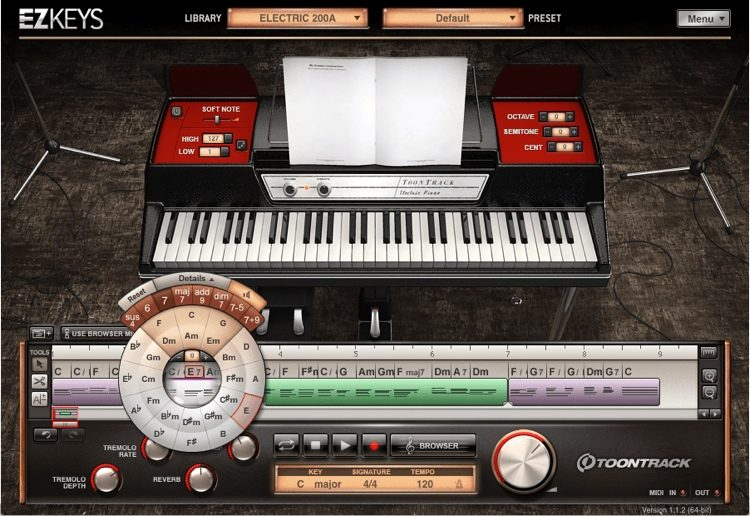 EZkeys Classic Electrics Songwriting Software and Virtual Electric Piano