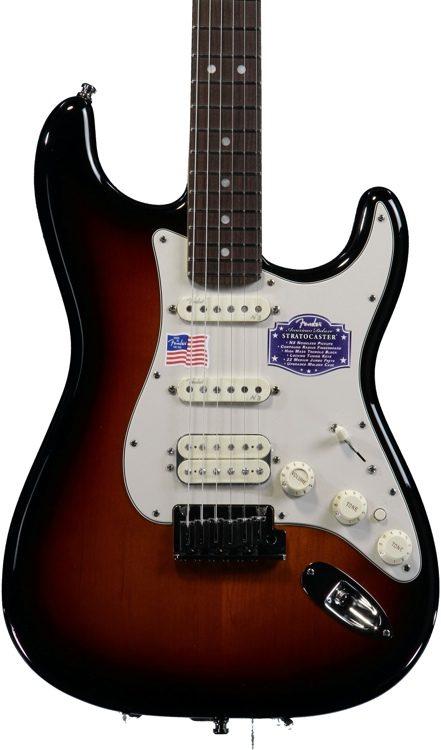 American Deluxe Strat HSS - 3-Color Sunburst, Rosewood