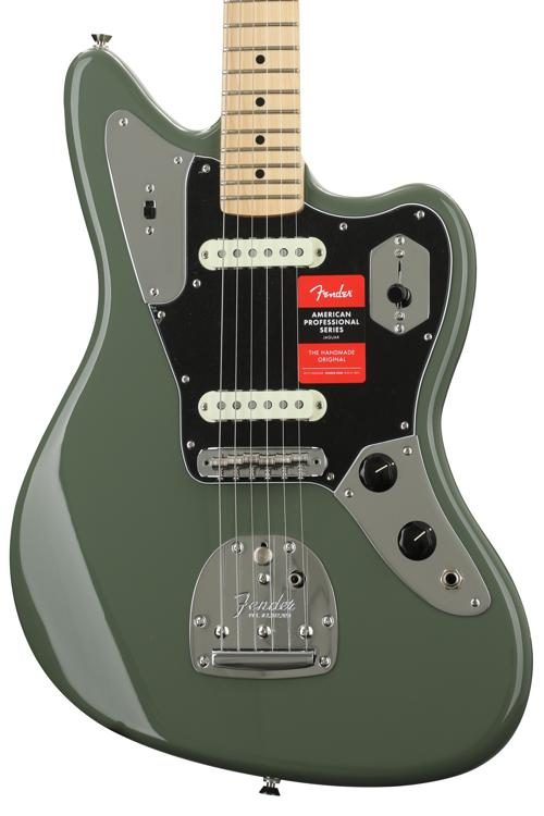 Fender American Professional Jaguar   Antique Olive With Maple Fingerboard  Image 1