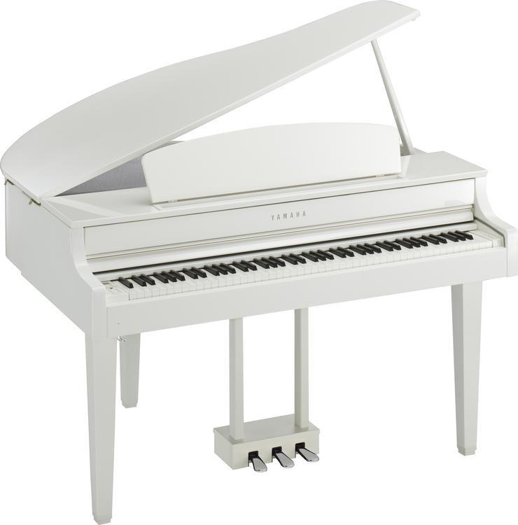 Clavinova Clp 665gp Digital Grand Piano With Bench Polished White
