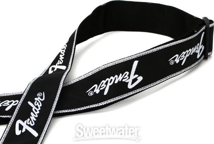 Fender 2 Monogrammed Guitar Strap Running Logo Sweetwater