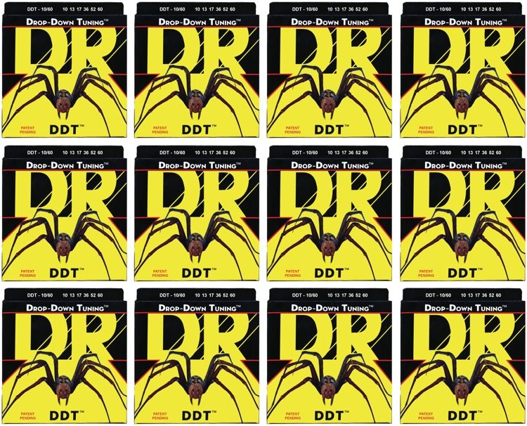 DR Strings DDT 10 60 Drop Down Tuning Stainless Steel Big Heavy
