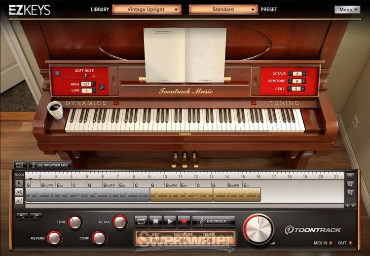 Toontrack EZkeys Vintage Upright Songwriting Software and