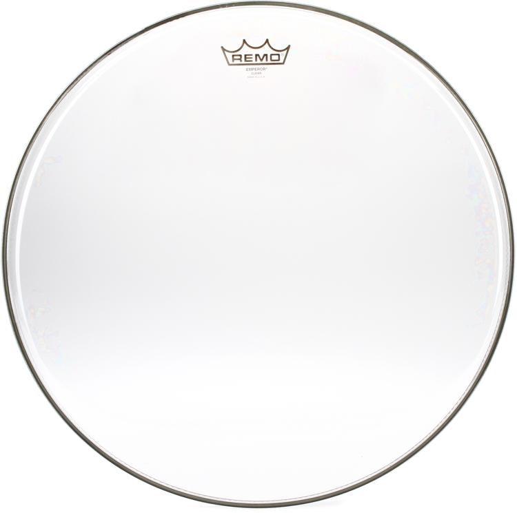 Remo 12//14 Emperor Clear Drumhead 2 Pack Bundle