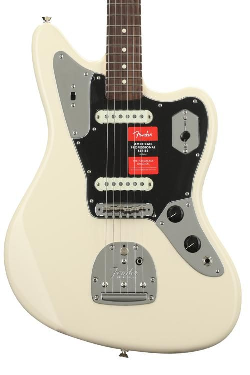 Fender American Professional Jaguar   Olympic White With Rosewood  Fingerboard Image 1