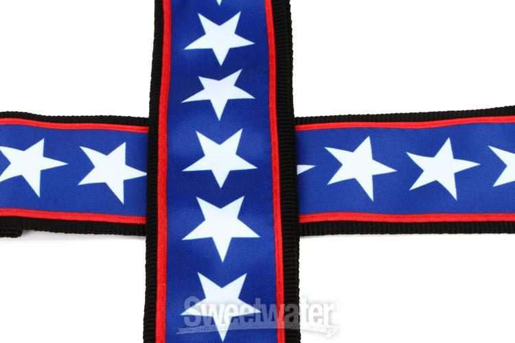 D/'Addario Planet Waves Woven Guitar Strap Stars and Stripes