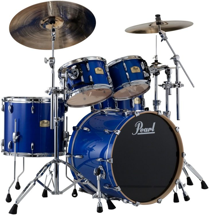 pearl session studio classic shell pack 22 bass drum sheer blue